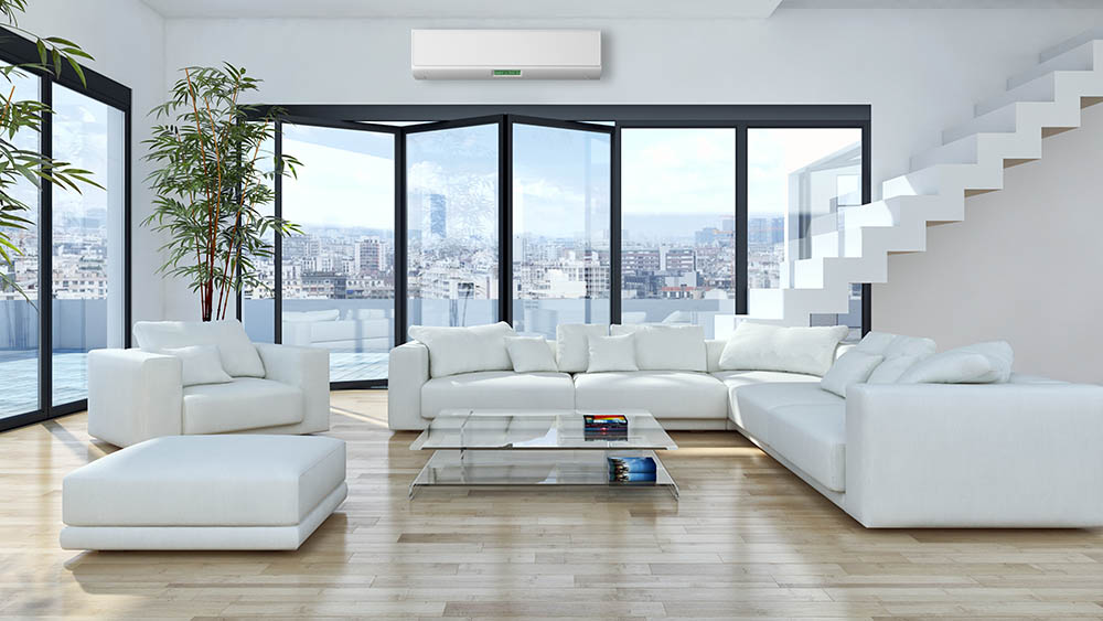 air conditioning unit in modern apartment