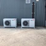 air conditioning units outside the cold room