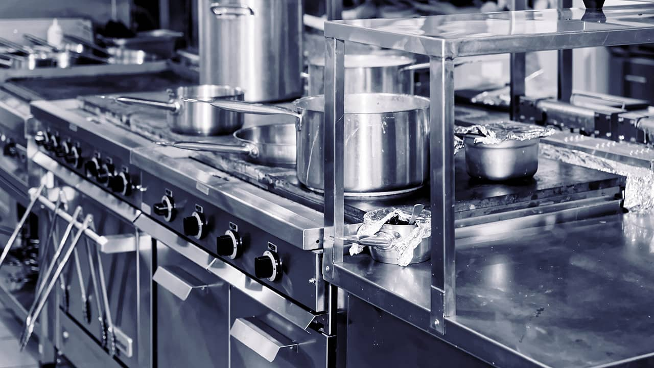 commercial kitchen interior photo