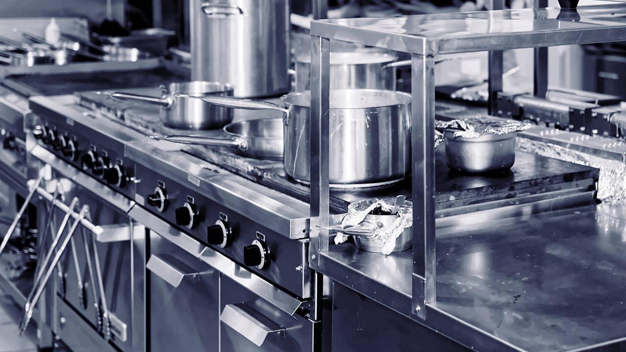 commercial kitchen interior photo